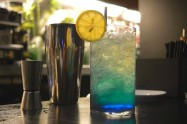Ginger blue lemonade